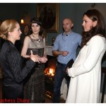 kate middleton joanne froggatt michelle dockery downton abbey set
