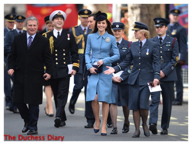 kate middleton blue mcqueen coat RAF Air cadets st clement danes