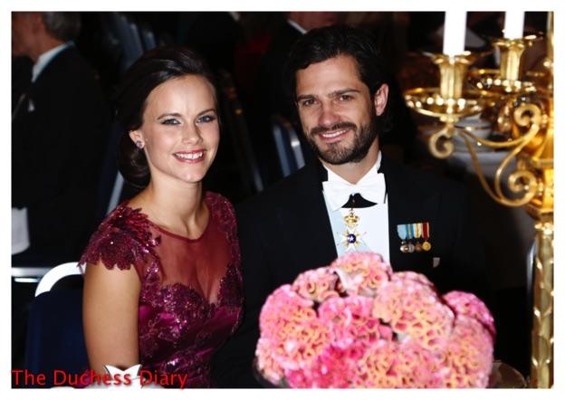 prince carl philip princess sophia nobel prize banquet 2015