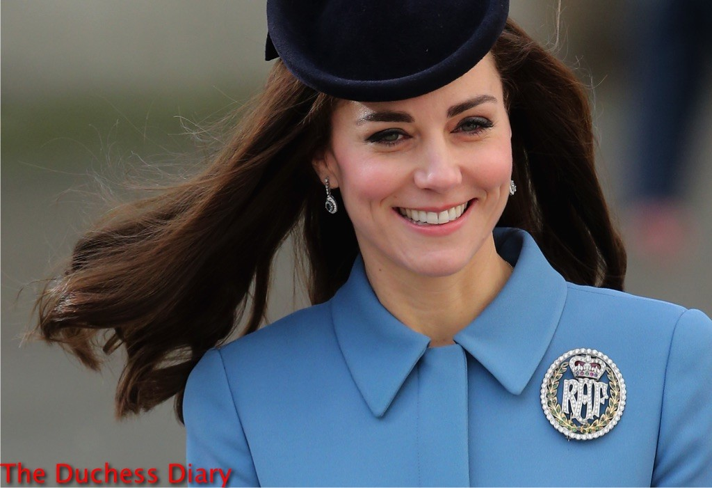 catherine duchess cambridge 75th anniversary RAF air cadets