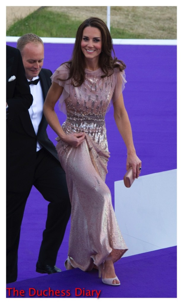 kate middleton pink jenny packham gown ark gala 2011