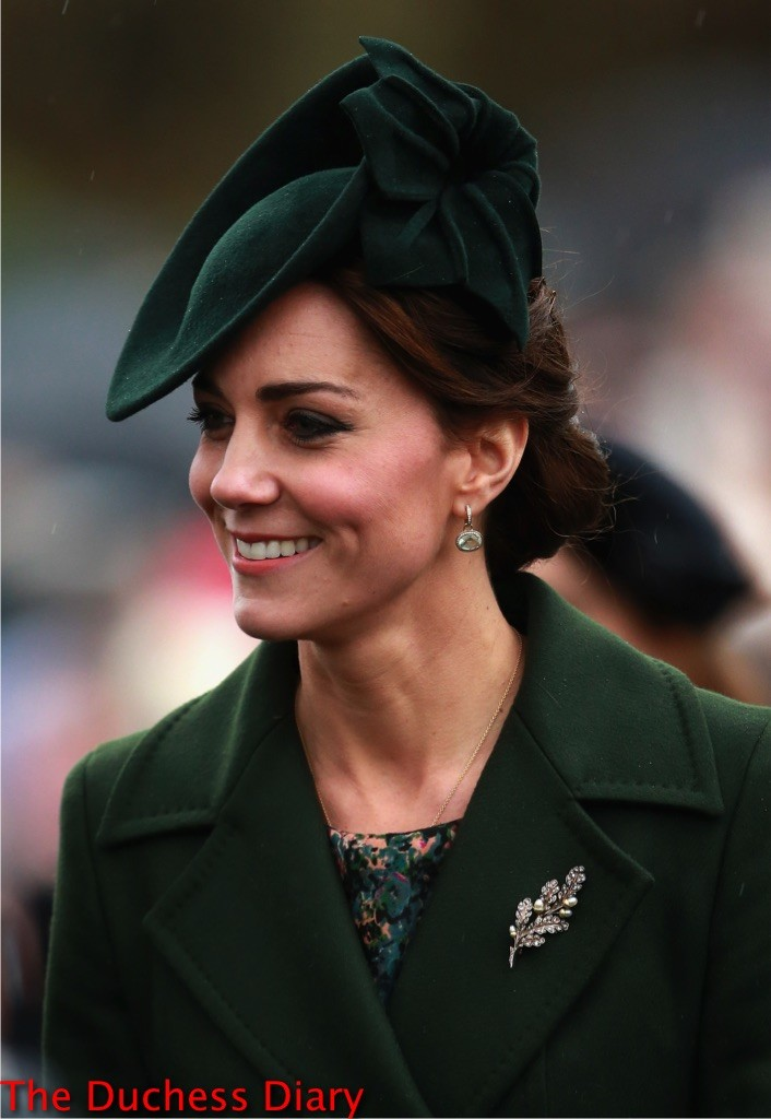 kate middleton sportmax coat christmas day service 2015