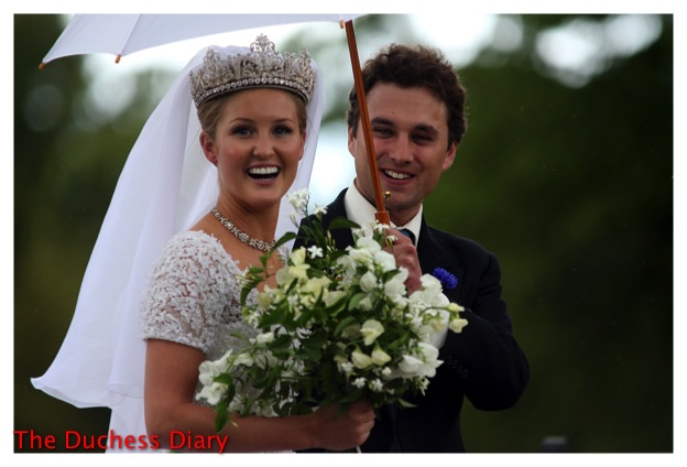 lady melissa percy wedding dress tiara thomas van straubenzee
