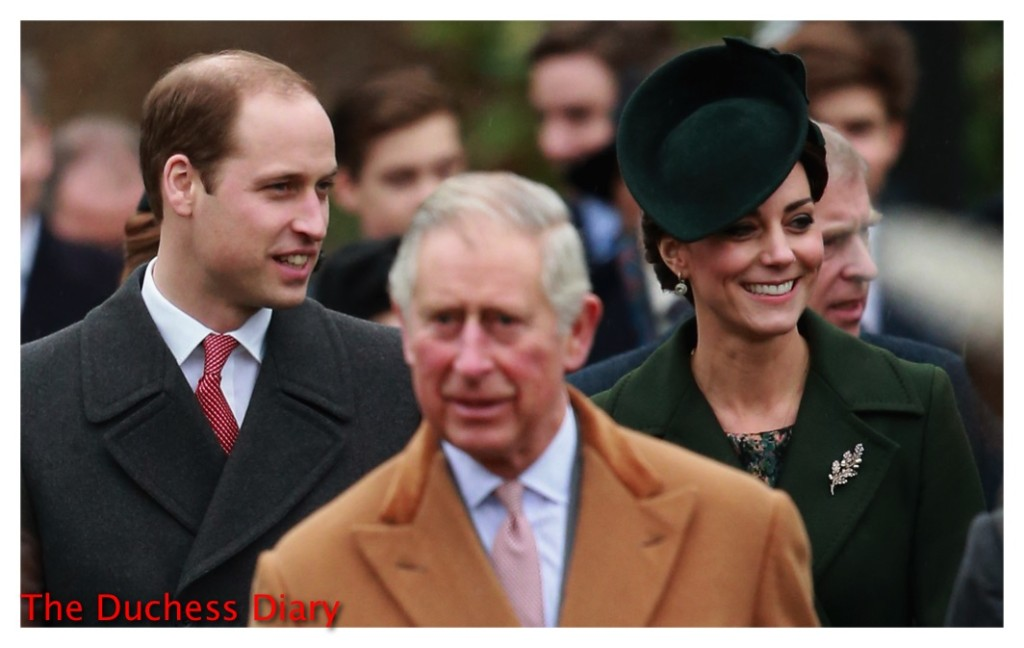prince william kate middleton prince charles christmas day service 2015