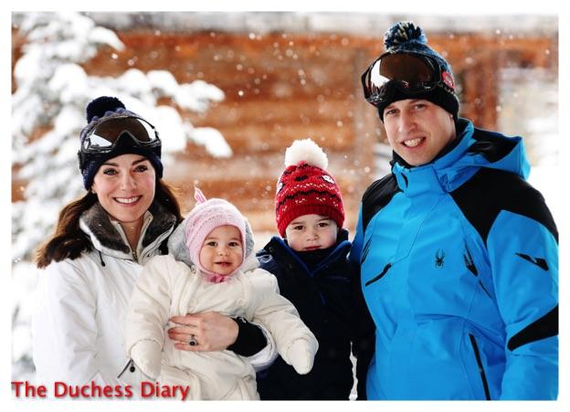 duke duchess cambridge prince george princess charlotte ski trip