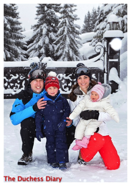 prince william kate middleton prince george princess charlotte pose french alps photo op