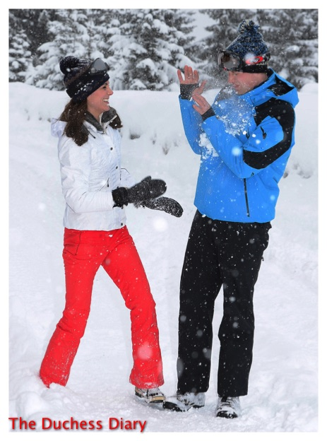 prince william kate middleton snowball photo op french alps