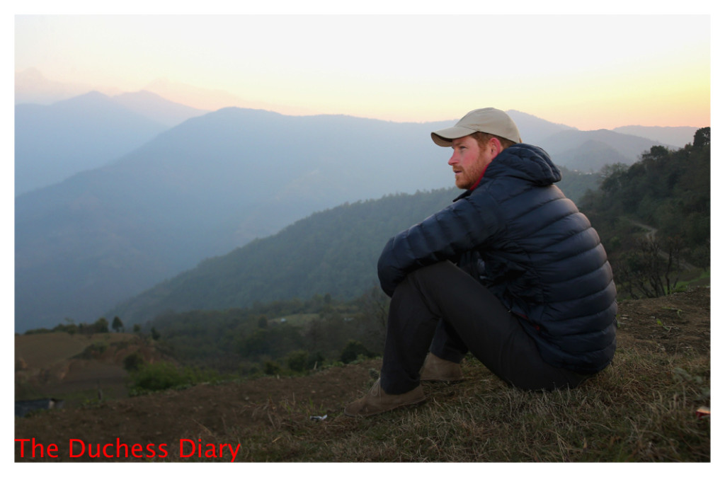 prince harry watches sunrise nepal