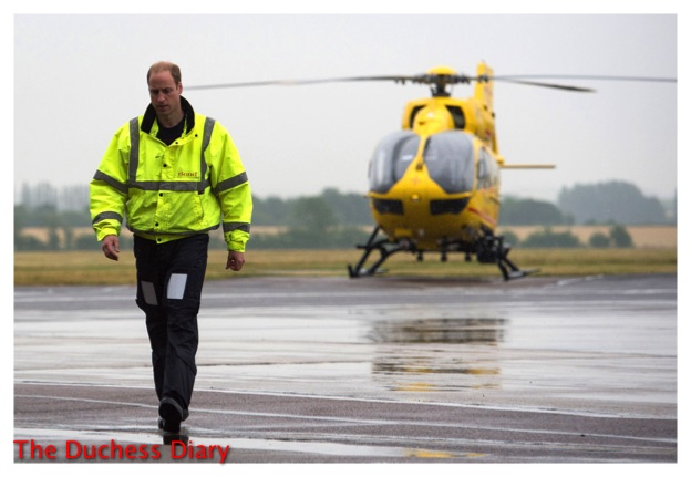 Prince william helicopter cambridge airport july 2015
