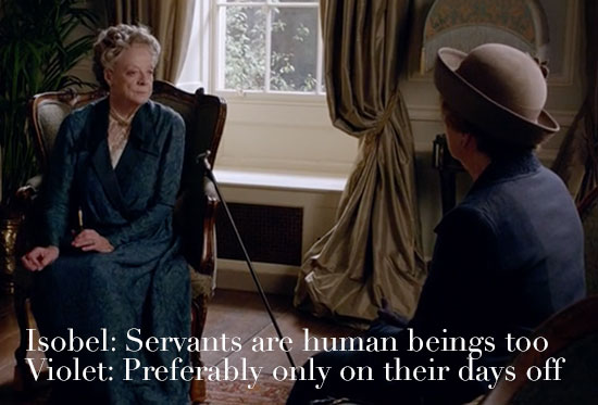 dowager countess speaks with isobel servants downton abbey