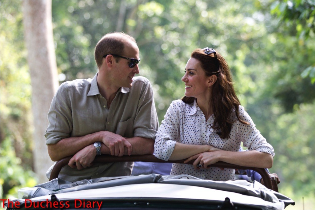 prince william smiles kate middleton smile game drive