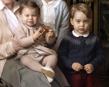 princess charlotte queen elizabeth lap prince george