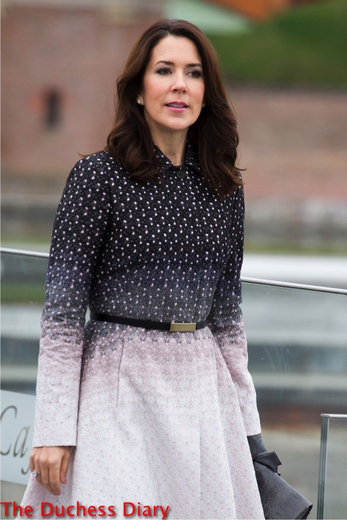 crown princess mary ombre coat denmark mexican state visit