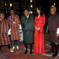 kate middleton beulah london dress poses photo bhutan