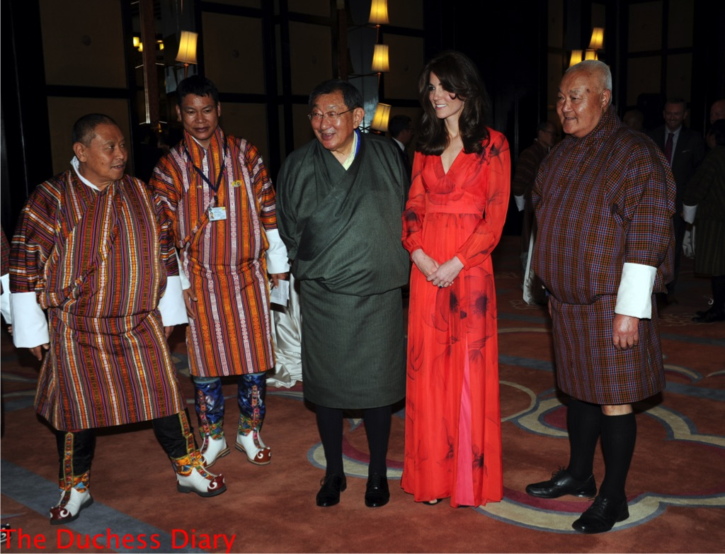kate middleton beulah london dress poses photo bhutan
