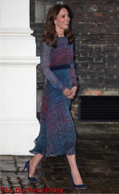 kate middleton lk bennett addison printed dress obamas kensington palace