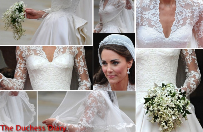 Royal wedding rewind a closer look at kate middleton s for Princess catherine wedding dress