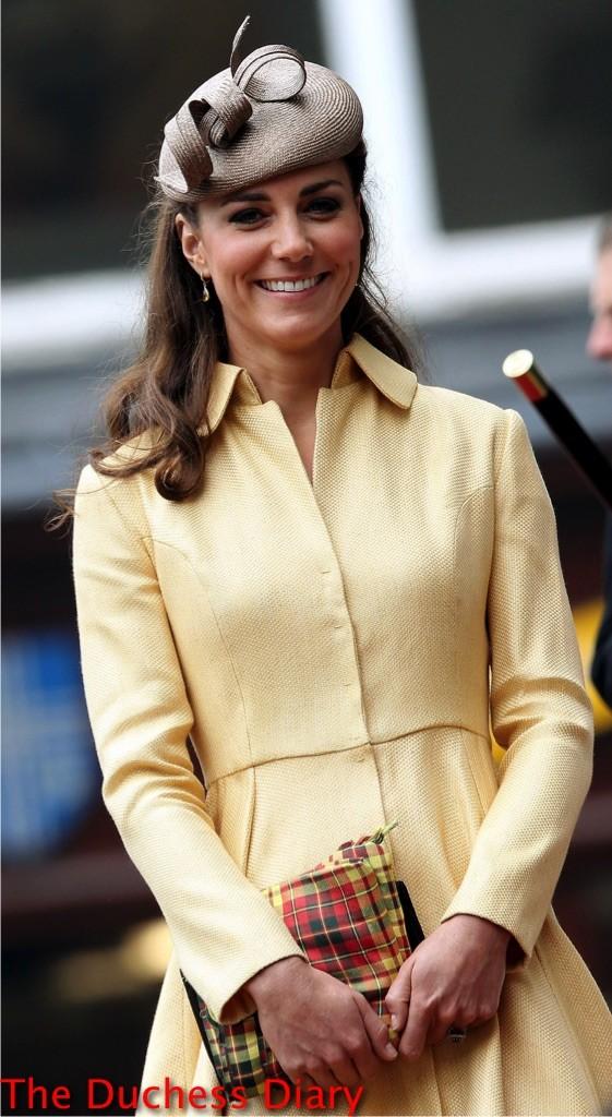 kate middleton whitely hat emilia wickstead wheat coat order thistle 2012
