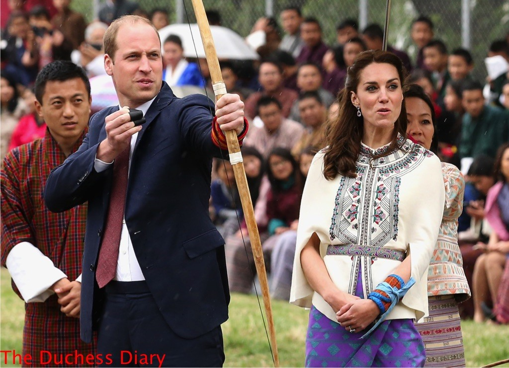 prince william fires arrow kate middleton reacts