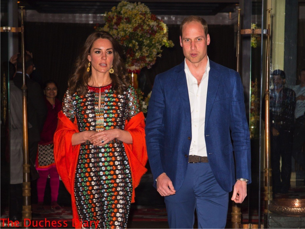 kate middleton tory burch dress prince william leave taj tashi hotel