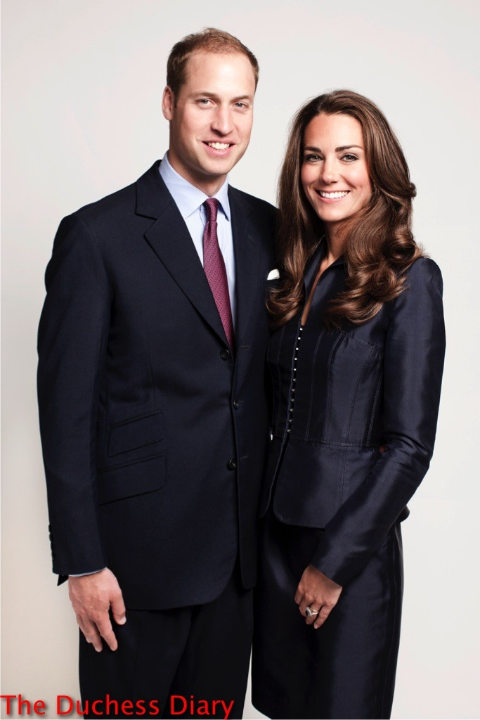 prince william kate middleton blue suit official photo north american tour