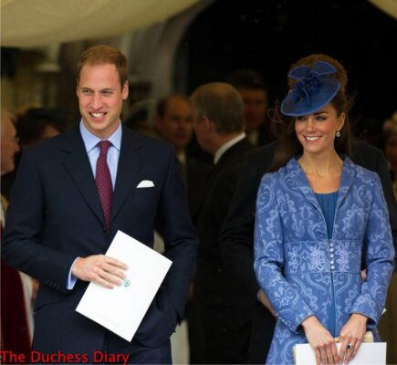 prince william kate middleton periwinkle out service prince philip 90th birthday