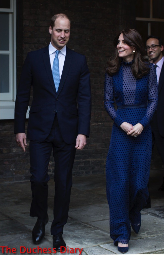 prince william suit kate middleton blue saloni dress kensington palace indian bhutanese people