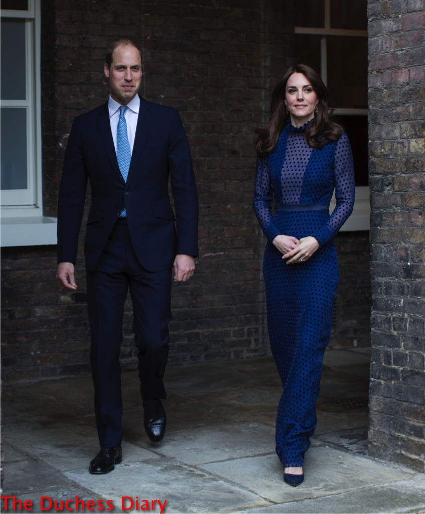 prince william suit kate middleton blue saloni dress meet young indian bhutanese people kensington palace