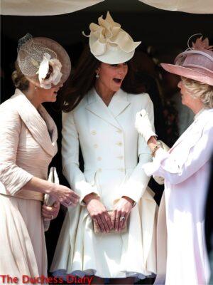 kate middleton white alexander mcqueen coat sophie camilla order of the garter 2012