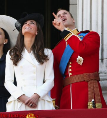 kate middleton white alexander mcqueen coat prince william colonel irish guards uniform trooping colour 2011