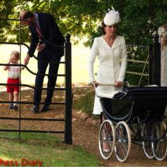 prince william holds prince george hand crying princess charlotte christening