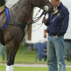 prince harry rubs nose horse cirencester polo club