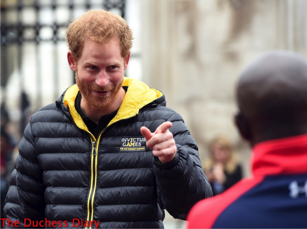 prince harry puffer vest invictus uk team 2016 buckingham palace