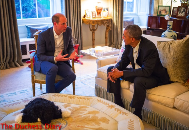 Prince George Bids Obama Goodnight Thanks Him For Popping