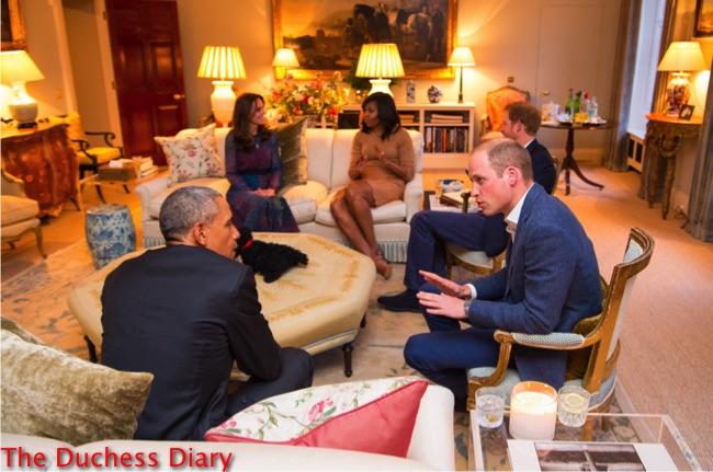 royal family obamas chat kensington palace