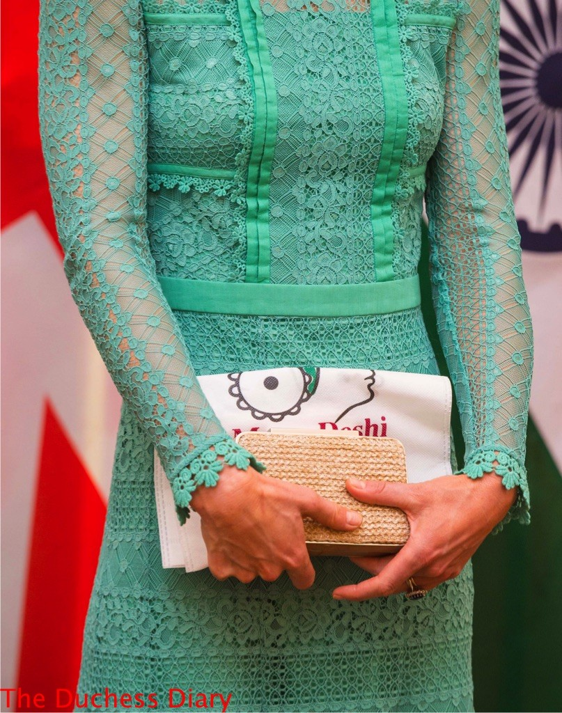 kate middleton close up temperley london dress india