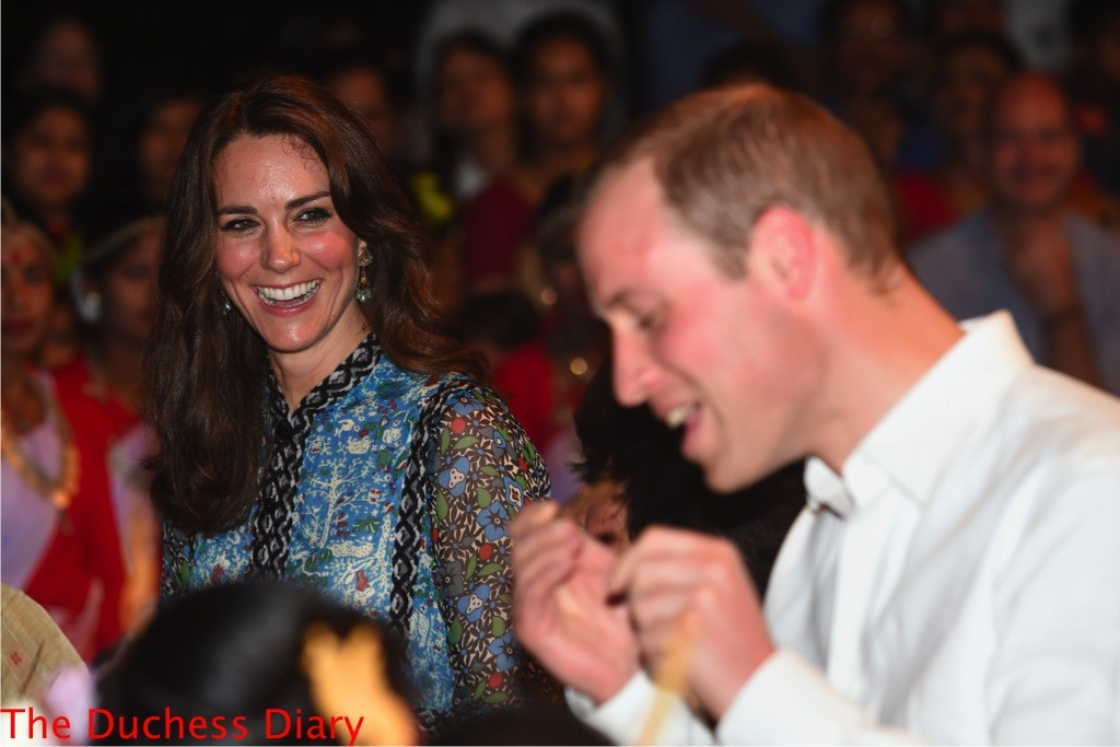 prince william attempts play indian whistle kate middleton laughs