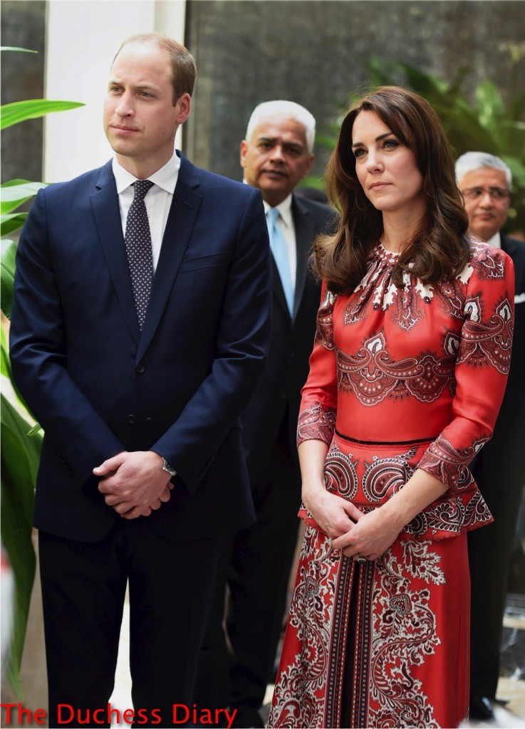 kate middleton alexander mcqueen dress prince william suit taj hotel