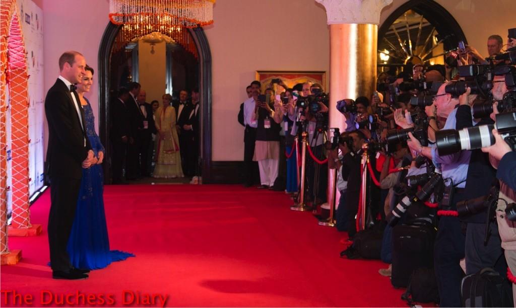 prince william txuedo kate middleton blue jenny packham dress mumbai