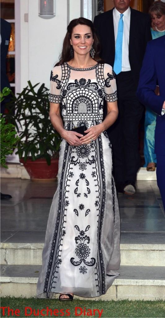 kate middleton temperley london top skirt new delhi garden party