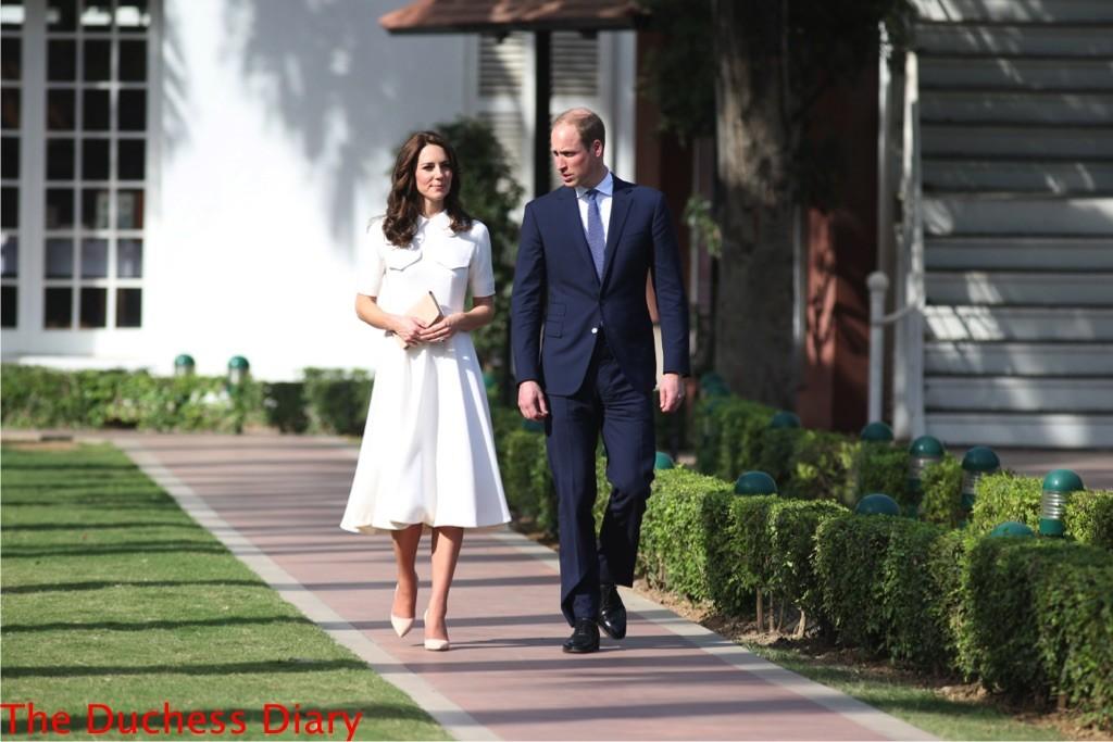 prince william kate middleton walk birla house new delhi