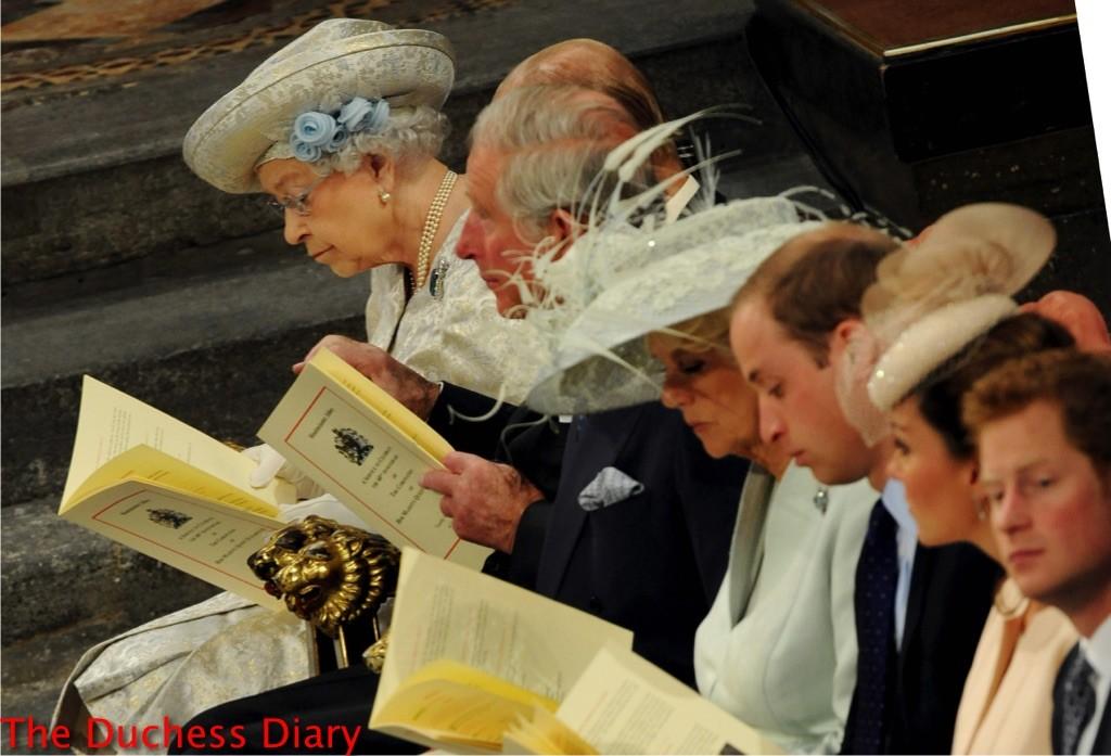 queen elizabeth royal family service 60th anniversary coronation 2013