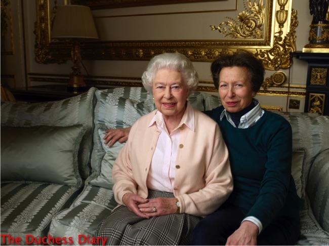 princess anne poses queen elizabeth birthday