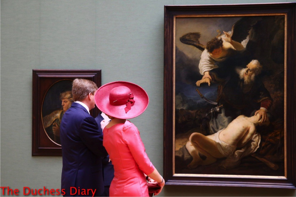 king willem alexander queen maxima painting germany