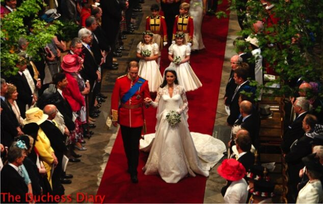 prince william kate middleton walk down aisle as married couple