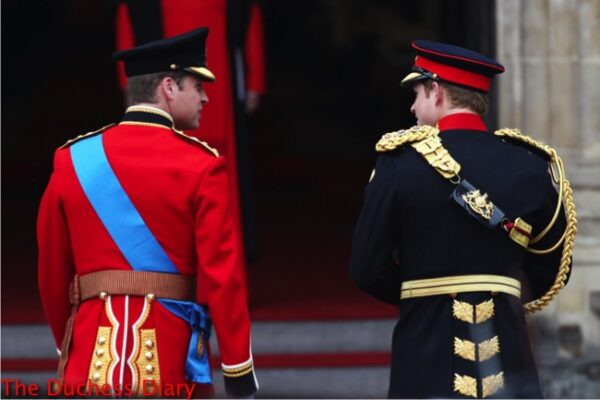 prince william prince harry walk into westminster abbey