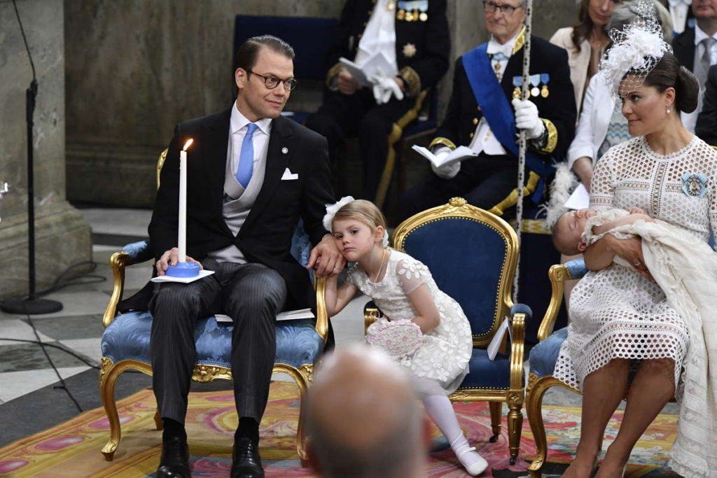 princess estelle bored prince daniel swedish royal christening