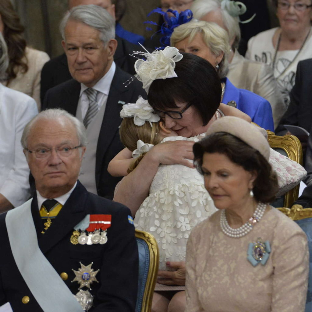 princess estelle held by paternal grandmother prince oscar christening