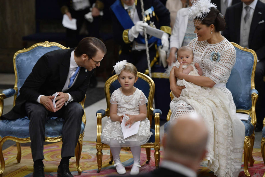 princess estelle sits mini chair prince daniel princess victoria swedish christening prince oscar