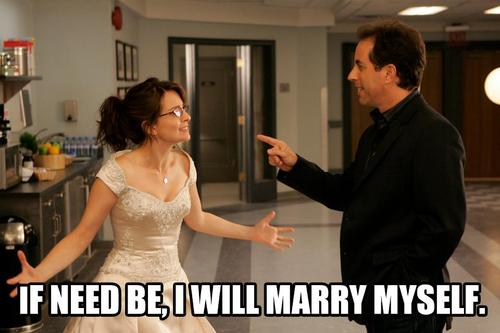 liz lemon wedding dress 30 rock jerry seinfeld